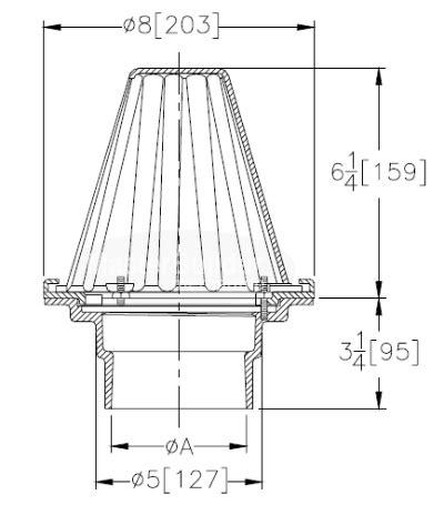 zurn z130 8 quot diameter roof drain canada masterbuilder mercantile inc