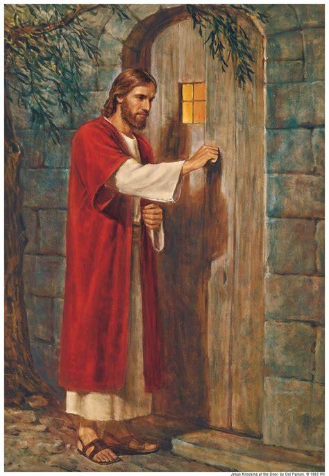jesus knocking at the door painting jesus knocking at the door of our hearts painting by