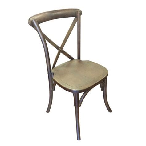 x back chair antique color mtb event rentals