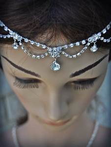 Wedding Tikka Headpiece Indian Inspired Crystal