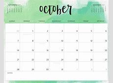 October 2018 Calendar Printable Template Download May