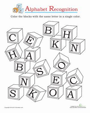 alphabet recognition worksheet education 980   alphabet recognition the alphabet preschool