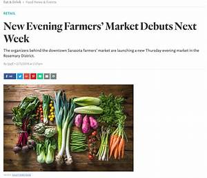 New Evening Farmers' Market in Rosemary District!