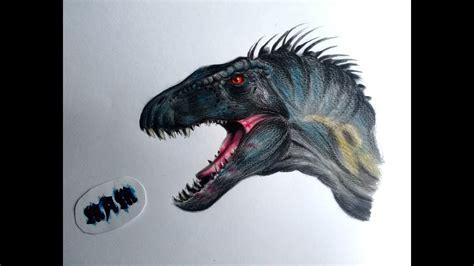 dino hibridos  dibujando al indoraptor de jurassic world