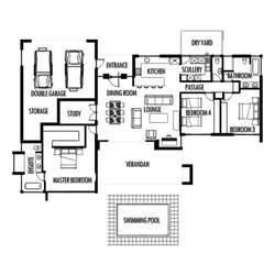 Small Bedroom Floor Plans by 3 Bedroom 285m2 Floor Plan Only Houseplanshq