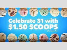 BaskinRobbins Get ice cream scoop for $150