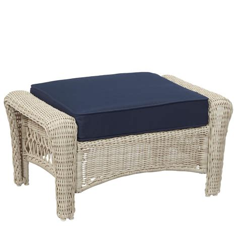 31338 save more furniture better hton bay park white wicker outdoor ottoman