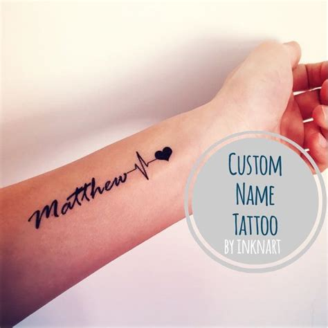 herzschlag name die besten 25 herzschlag mit namen ideen auf ehemann namen tattoos tattoos