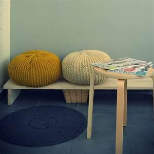 Gros Pouf Rond : mod le tricot pouf gratuit a a patrons ~ Teatrodelosmanantiales.com Idées de Décoration