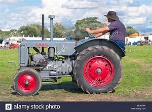 Vintage tractor at Welland Steam Rally, UK. 'Case' classic ...