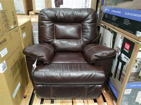 leather recliners costco woodworth easton leather rocker recliner