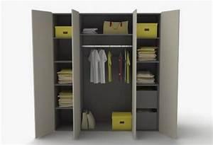 Dressing Ouvert Pas Cher : armoire dressing 4 portes 2pir meubles dressing pas chers armoires dressing discount ~ Melissatoandfro.com Idées de Décoration