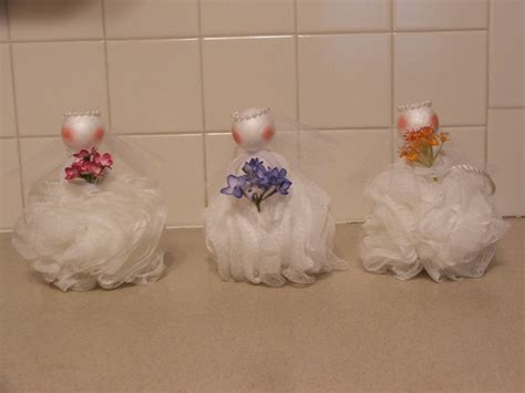 wedding shower loofah party favor projects pinterest wedding party favors and favors