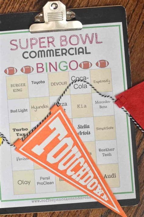 super bowl  bingo cards  printable coffee