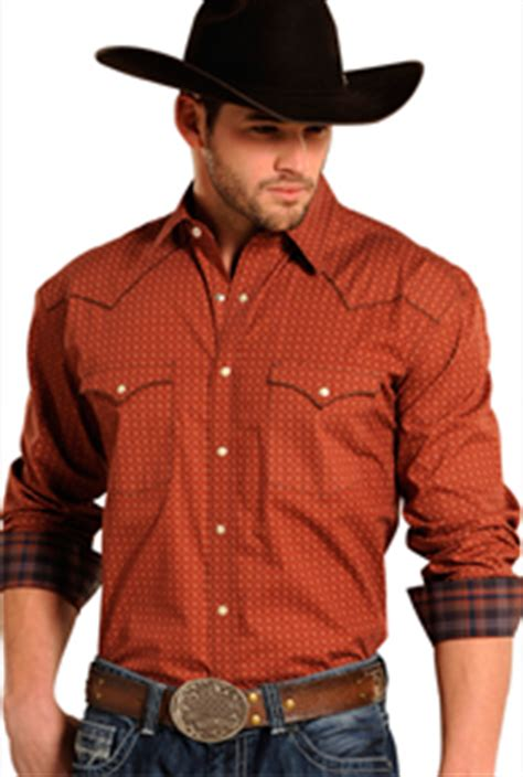 mens long sleeve fashion western shirts mens western