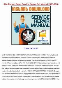 Alfa Romeo Brera Service Repair Pdf Manual 20 By