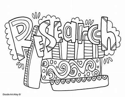 Method Scientific Coloring Doodle Research Alley Science