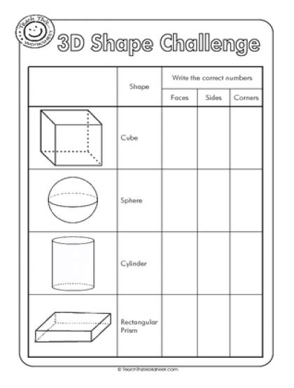 properties   shapes worksheet google search