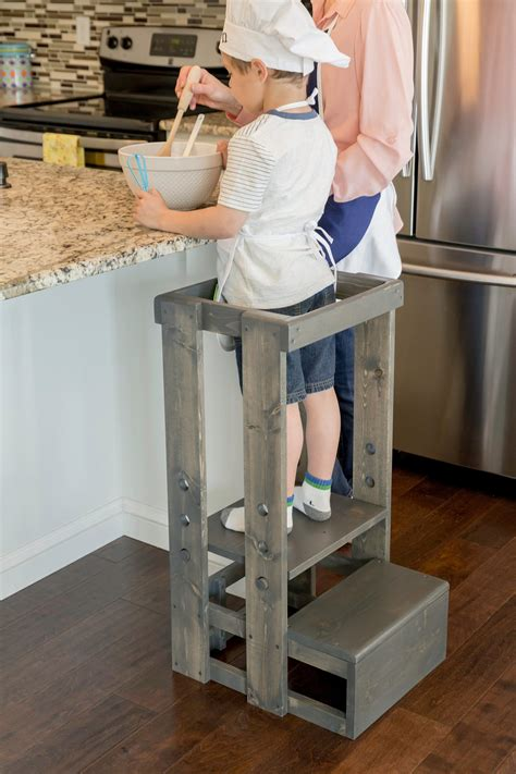 Kitchen Helper Tower Canada by Tot Tower Safe Step Stool Child Safety Kitchen Stool Etsy