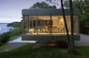 Fresh Glass Modern Houses by Raised Horizontal House Enclosed In Glass With Open