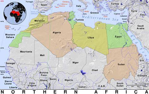 northern africa public domain maps  pat