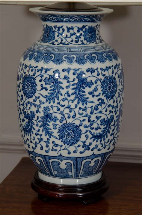 chinese ginger jar table ls pair of blue and white porcelain chinese ginger jar ls