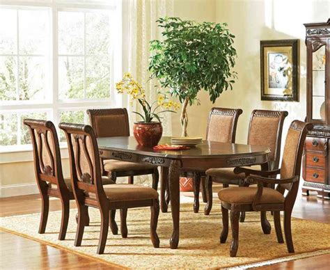 rustic oak dining table and chairs images wingback