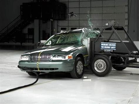 ford crown victoria side iihs crash test youtube