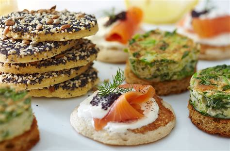 canape food gluten free blinis with smoked salmon tesco food