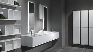 esthetique et moderne une salle de bains en corianr With meuble salle de bain en corian