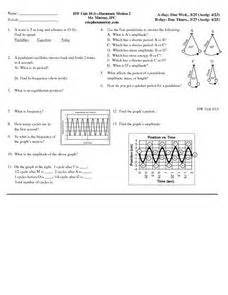 Harmonic Motion 2 10th  Higher Ed Worksheet  Lesson Planet