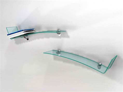 mensole vetro mensola in vetro curvato check