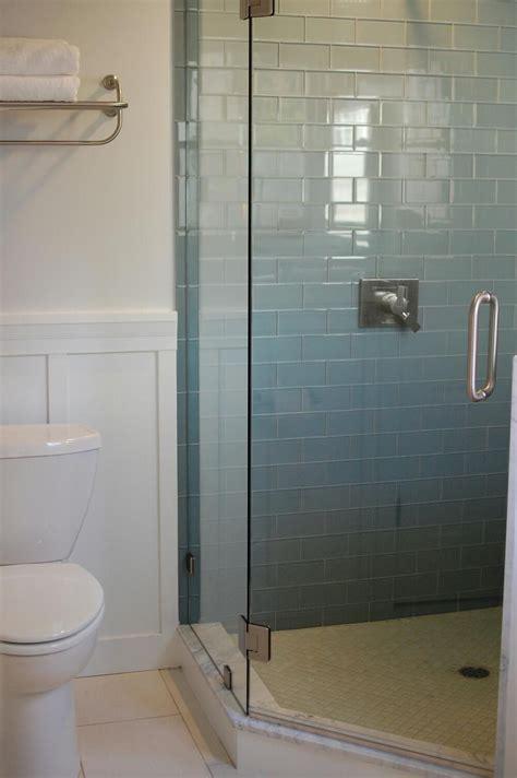 ocean glass subway tile subway tile showers subway