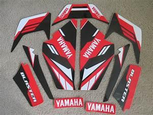 Yamaha Blaster Red  Black Graphics 1987 1988 1989 2000 2001 2002