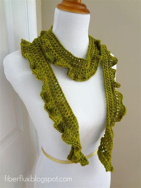 free crochet scarf patterns fiber flux free crochet pattern arugula scarf