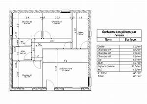 definition de la surface habitable par les hauteurs de With ordinary plan de maisons gratuit 13 plan appartement 60 metre carre