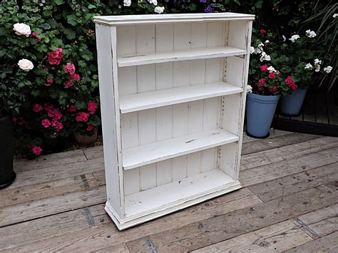 Shabby Chic Bookcases For Sale by Lovely Antique Pine Painted White Adjustable