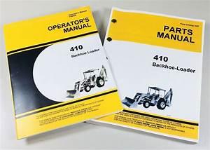 Operators Manual Set For John Deere Jd410 Loader Backhoe