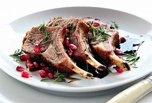 Roasted Rack Of Lamb With Pomegranate And Fresh Savory