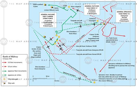 Battle of Midway June 1942 Map