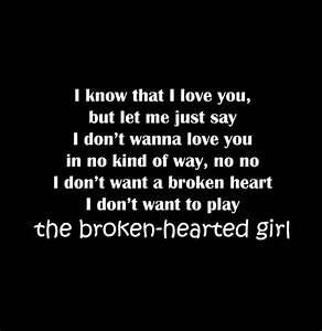 BROKEN HEARTED GIRL QUOTES TUMBLR image quotes at ...