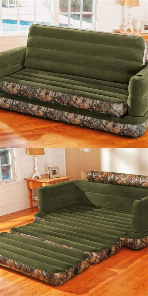 intex inflatable realtree camo print queen size pull out