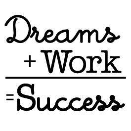 turquoise and orange area dreams work success quote decals dezign with a z