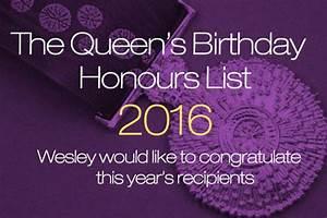 Queens Birthday Honours 2016 OWCA - Wesley College