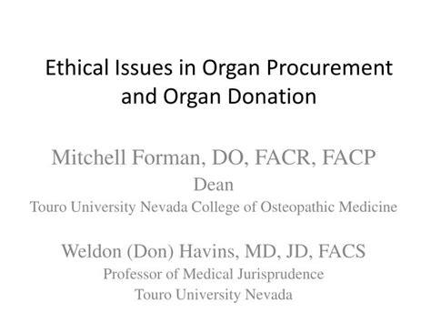 ethical issues  organ procurement  organ