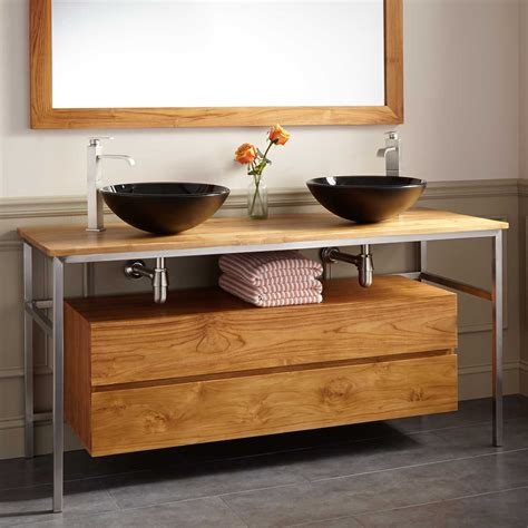 60 quot roeding teak vessel sink vanity teak