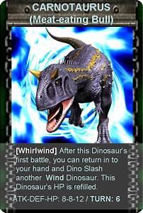Dinosaur King Carnotaurus Armor Card | www.imgkid.com ...
