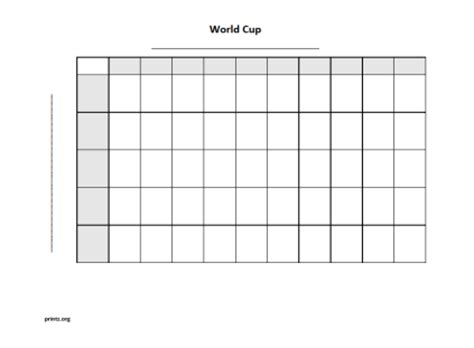 world cup  square grid