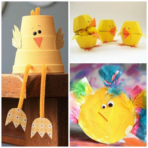 12 easy adorable easter crafts happy hooligans 670 | Easter Chick Crafts for Kids 560x560