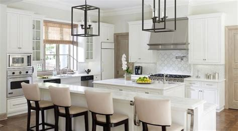 Long Kitchen Island   Transitional   kitchen   Laura Lee Clark